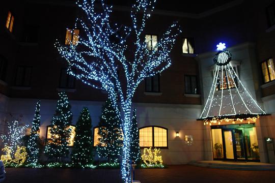 福岡の照明デザイン事務所ライトニックの産婦人科医院・イルミネーション